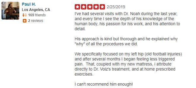 Benjamin Chiropractic Patient Testimonial 04